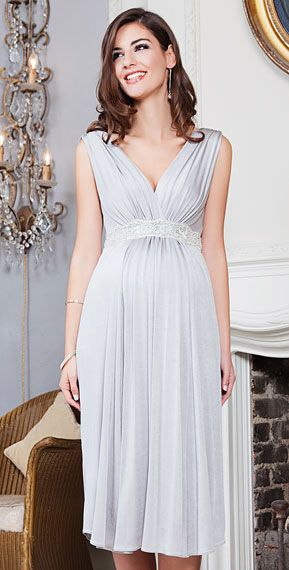 Maternity Dresses for Wedding Party Lovely Anastasia Maternity Dress Short Silver Screen Maternity