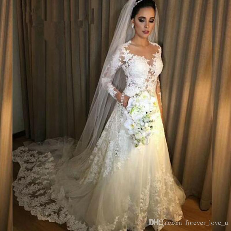 2019 stunning arabic wedding dresses sheer