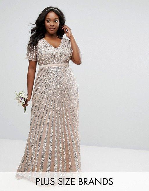 Maxi Wedding Guest Dresses New Maya Plus Sequin All Over Maxi Dress