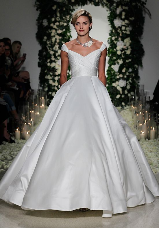 silk wedding gowns unique silk f the shoulder ballgown with ruching embellishment