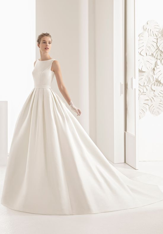 silk wedding gowns fresh classic tailored pique dress with boat neckline knotted lace back