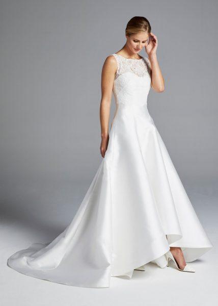 anne barge illusion sweetheart neckline lace bodice a line silk wedding dress 428x600