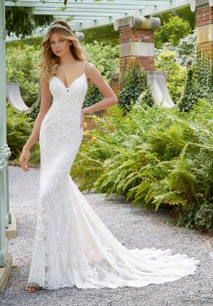 mori lee 2033 perdita beaded spaghetti straps bridal dress 01 578