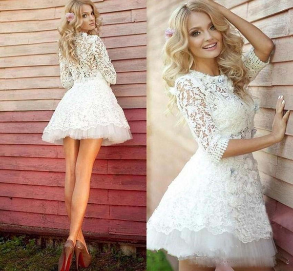Mini Wedding Dresses Fresh Discount Elegant High Neck Short Mini Wedding Dresses Lace Applique Little White Dresses Vestido De Novia Beach Weddding Dresss Weddingdress Western
