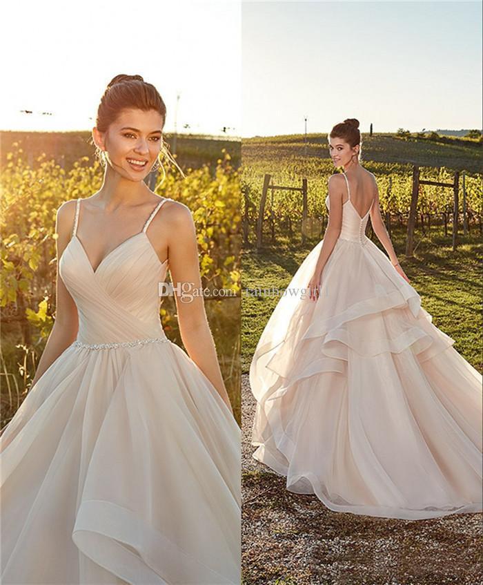 2019 modern a line bridal wedding dresses