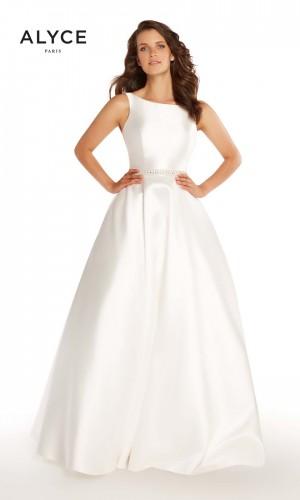 alyce paris bateau neck formal gown 01 254