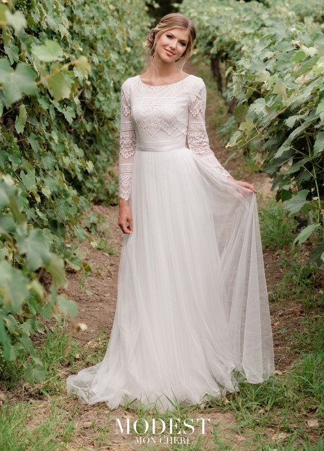 modest bridal by mon cheri tr lace top wedding gown 01 565