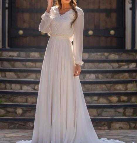 Modest Wedding Dresses Lovely Modest Bridal by Mon Cheri Tr Bishop Sleeve Bridal Dress