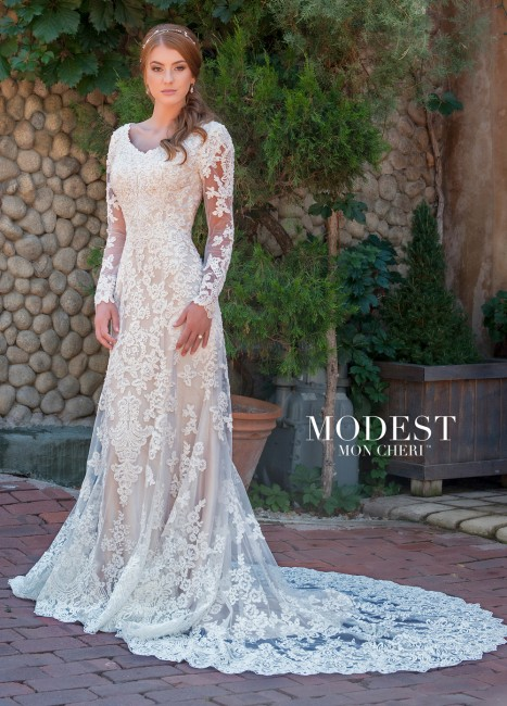 modest bridal by mon cheri tr long sleeve wedding gown 01 273