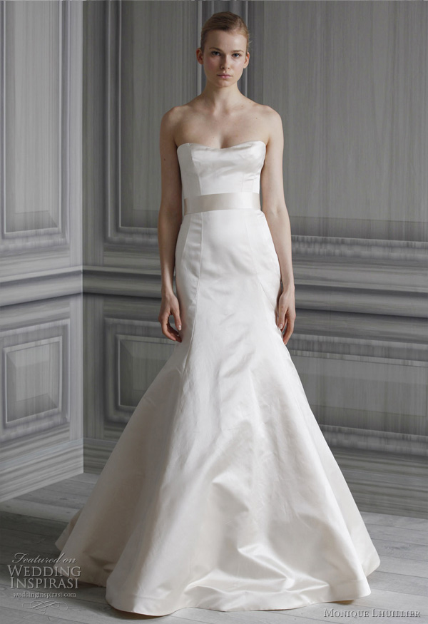 monique lhuillier spring 2012 bridal gown