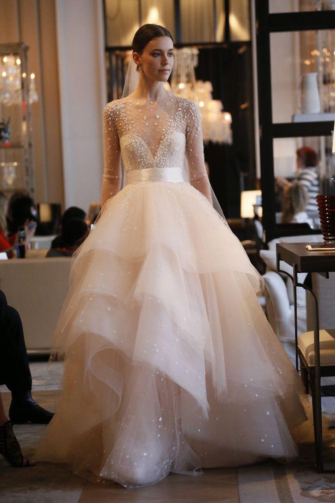 7ed01b8564d791c16bc016f8e ce pink wedding dresses pink weddings