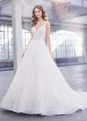 martin thornburg celine illusion back wedding dress 01 698