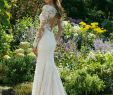 Nature Wedding Dress Elegant Style Illusion Long Sleeve Fit and Flare with V