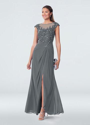Navy Blue Dresses for Wedding Elegant Steel Grey Mother the Bride Dresses