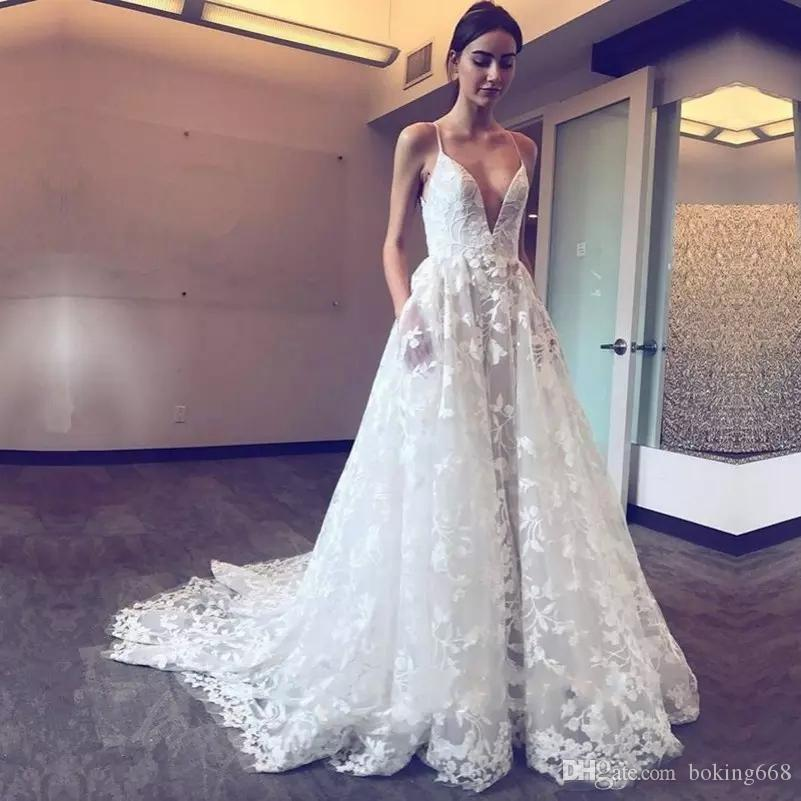 lace wedding dresses backless 2019 cheap