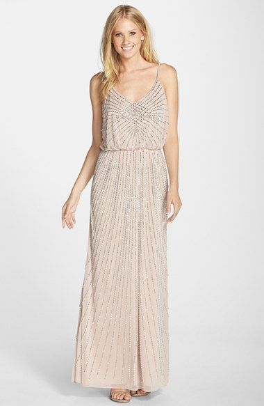 Nordstrom Blush Dresses Awesome Xscape Beaded Blouson Gown Available at nordstrom