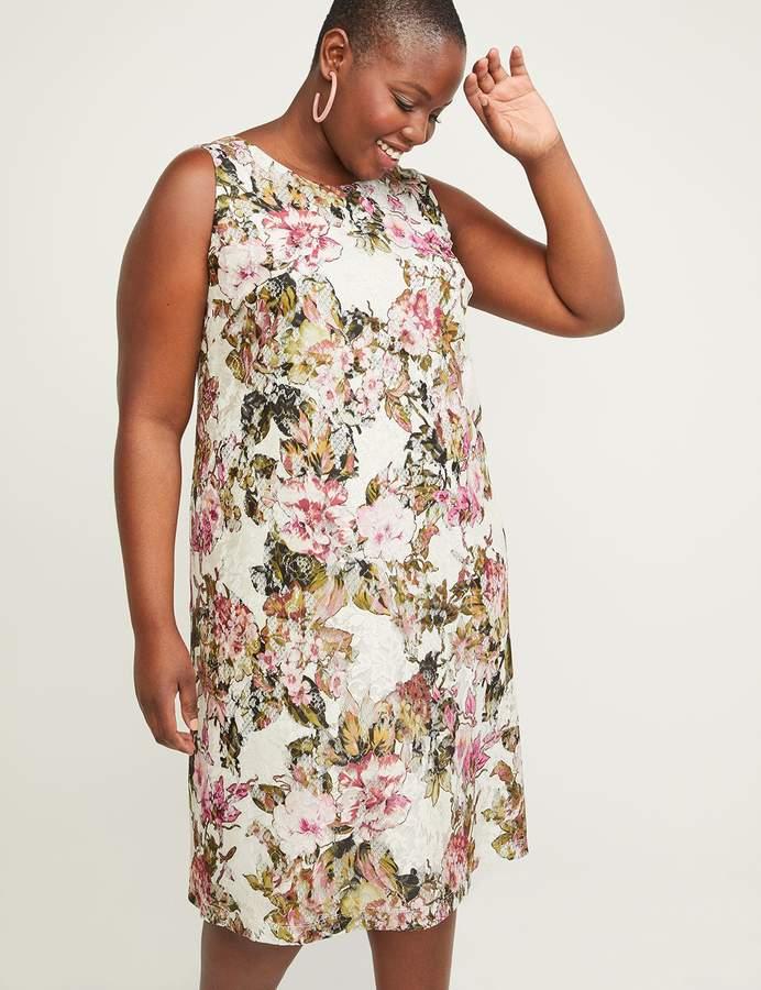 Lane Bryant Printed Lace A Line Dress
