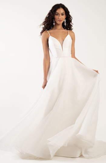 Jenny Yoo Lorelei Plunging A Line Wedding Dress