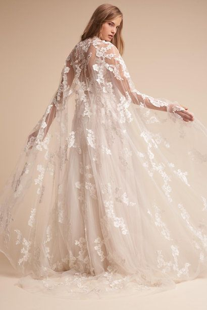autumn wedding gowns elegant reagan gown and anastasia cape bhldn
