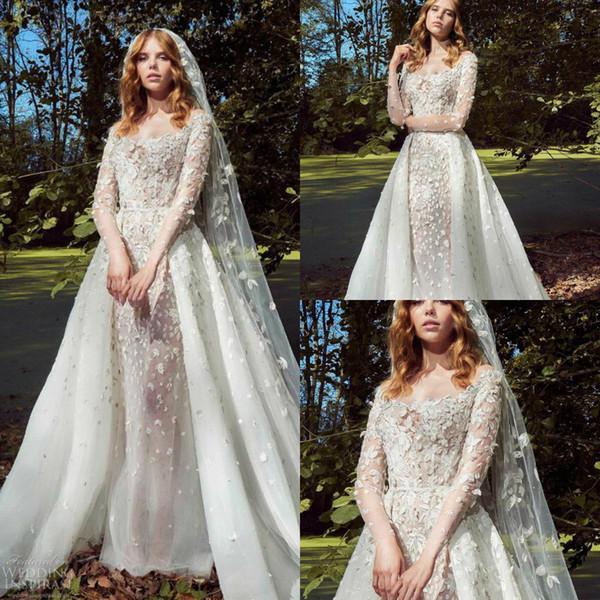 Off the Rack Wedding Dresses Unique Discount 2019 Zuhair Murad Wedding Dresses F the Shoulder 3d Floral Appliqued Vestidos De Novia Detachable Country Wedding Dress Bridal Gowns F