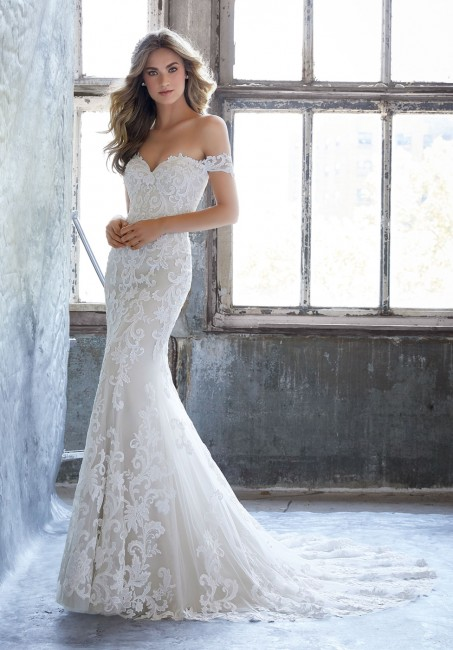 mori lee 8203 kassia off the shoulder fit and flare wedding dress 01 286