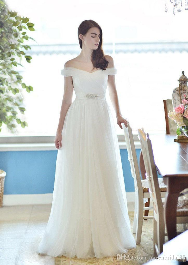 hot sale 2019 beach wedding dresses with