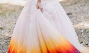 21 Unique orange and White Wedding Dress