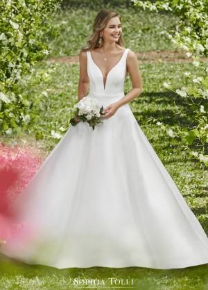 sophia tolli y b natalie grace pearl mikado bridal gown 01 681
