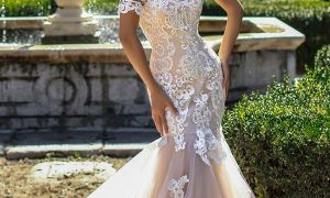 29 Awesome Over the Shoulder Wedding Dress