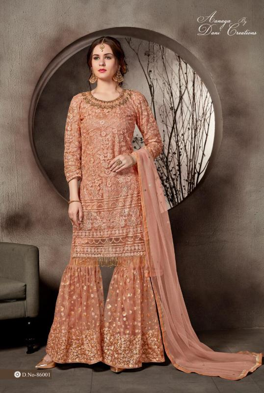 Aanaya Series Net Embroidered Pakistani Dresses Surat line 4