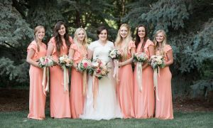 29 Beautiful Peach Bridesmaids Dresses