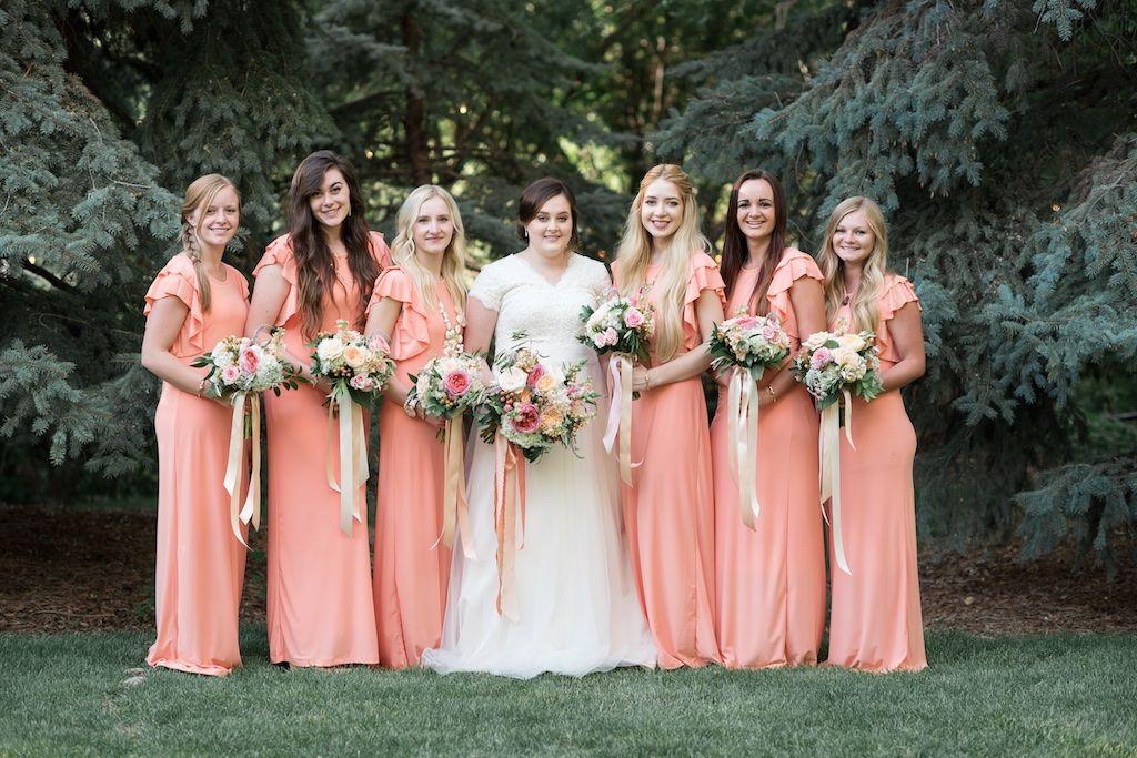Peach Bridesmaids Dresses Best Of Coral Peach Long Bridesmaids Dresses Peach Coral Blush