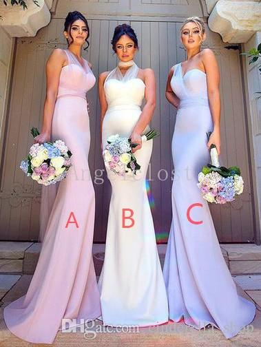 dresses to wear to an evening wedding lovely 2018 y bridesmaid dresses mermaid 3 styles sleeveless long floor