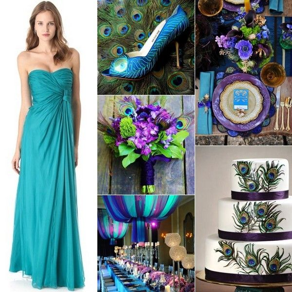 Peacock Wedding theme Bridesmaid Dresses Lovely Peacock Wedding Inspiration Teal & Peacocks