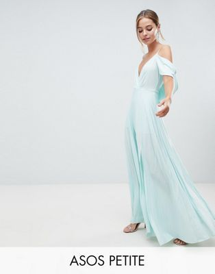 Petite Dresses for Wedding Inspirational Design Petite Cold Shoulder Cowl Back Pleated Maxi Dress