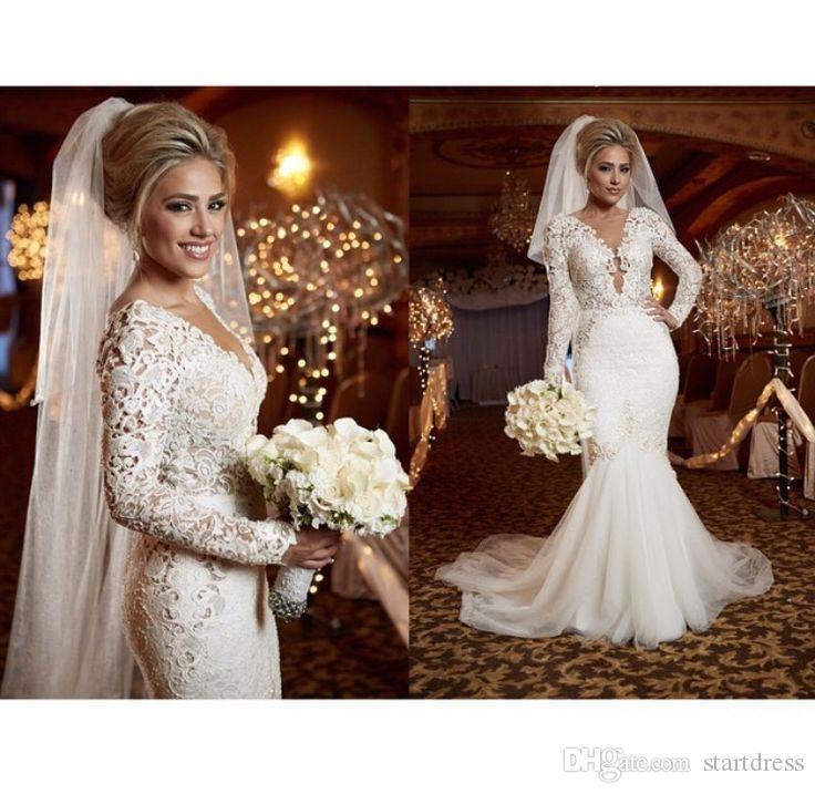 spring berta long sleeve wedding dresses