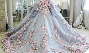 23 Fresh Pink and Blue Wedding Dress