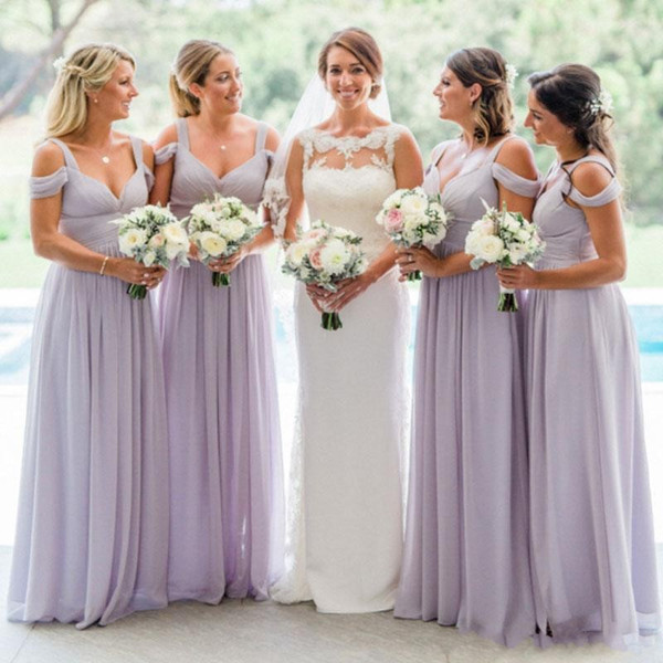 Places to Buy Bridesmaid Dresses Beautiful 2018 Country Lavender Bridesmaid Dresses Custom Made Bridesmaids Dress Ruched Chiffon Floor Length Straps F the Shoulder for Weddings Canada 2019