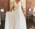 Plain White Wedding Dress Awesome Simple V Neckline Bohemian Wedding Dress