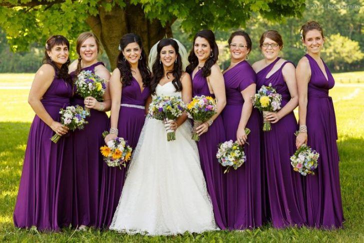Plum Wedding Dresses New Bridesmaids In Henkaa S Sakura Maxi Convertible Dresses In
