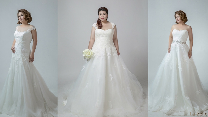 plus size wedding gowns singapore