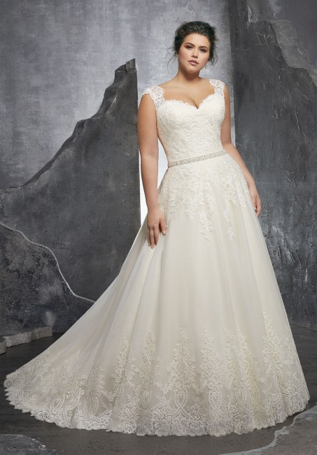 mori lee 3232 kenley cap sleeve a line plus size wedding dress 01 288