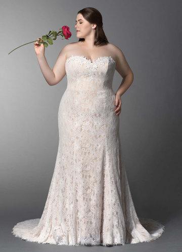 Plus Size Bling Wedding Dresses Luxury Sweep Train Wedding Dress