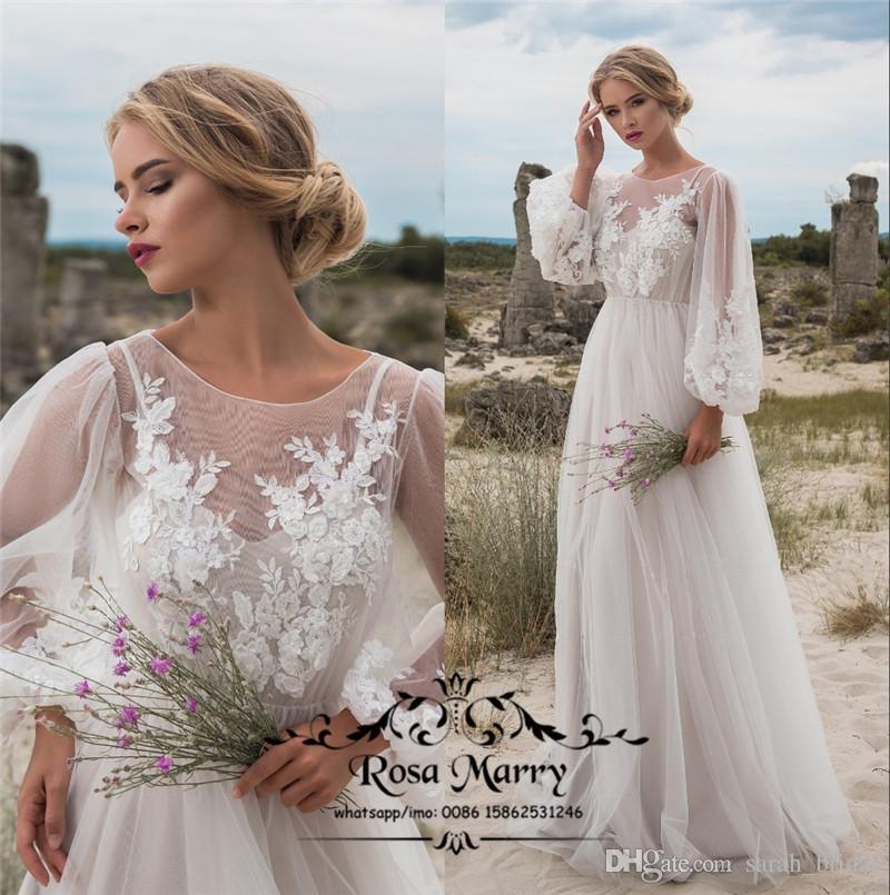 plus size boho beach country wedding dresses