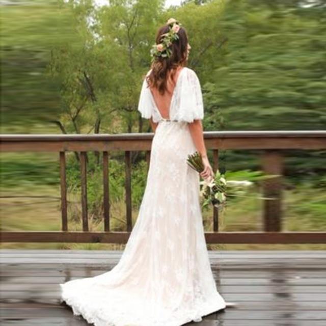 bohemian wedding rings lorie boho wedding dress plus size v neck cap sleeves lace bride of bohemian wedding rings