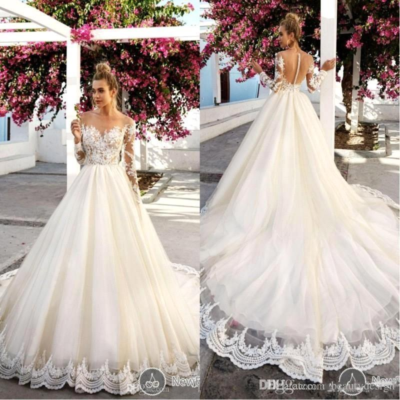 vintage plus size long sleeve lace wedding