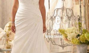 27 New Plus Size Chiffon Wedding Dress