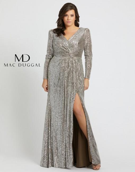 mac duggal f slit skirt plus size formal dress 01 676