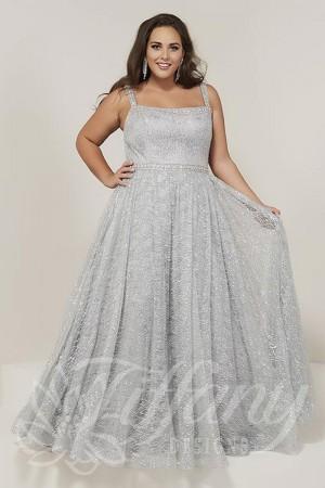 tiffany designs square neck plus size formal dress 01 543