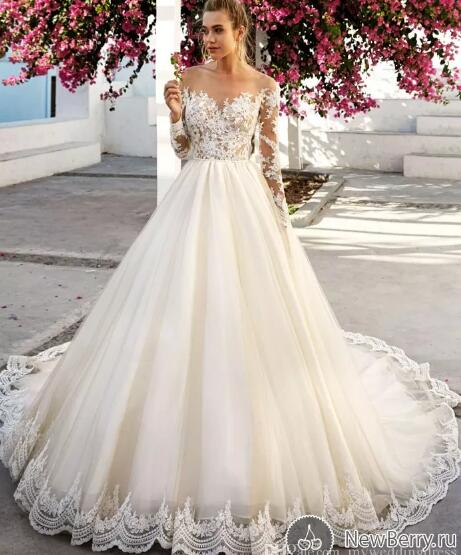 Plus Size Lace Mermaid Wedding Dresses New Long Sleeve Wedding Dress White Wedding Dress Lace Applique Wedding Dress Simple Wedding Dress Cheap Wedding Dress Vestido De Novia Elegant